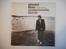 VINCENT LIBEN avec BERRY : MADEMOISELLE LIBERTE [ CD SINGLE NEUF PORT GRATUIT ]