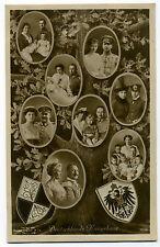 AK Deutschlands Kaiserhaus Kaiser Wilhelm II. Kaiserin Auguste Victoria; Wappen