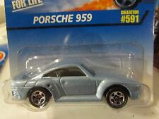 Hot Wheels Porsche 959  #591 5sp Lt Blue says Coolest to Collect on card