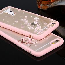 ultra slim Cherry fiore PC TPU bumper Custodia Cover Trasparente pr Samsung S6