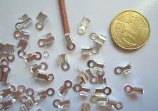 Terminales lisas 9 x 4 mm X 50 UNIDADES baño plata 2,5 mm aguje cordón abalorios