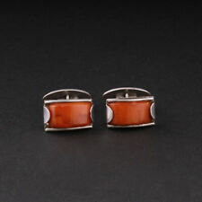 Handmade Silver Cufflinks with Bakelit. Art Deco