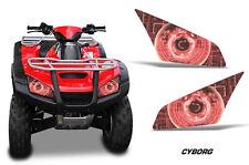 AMR Racing Head Light Eyes Honda Rincon 680 ATV Headlight Decals Part CYBORG RED