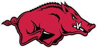 "Arkansas Razorbacks Color Die Cut Vinyl Decal Sticker - You Choose Size 2""-58"""