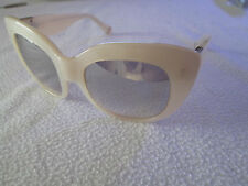Zac Posen Peggy cat's eye sunglasses in pearl.