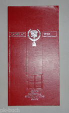 Datenhandbuch/Quick Reference Specifications Guide Cadillac 1990