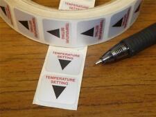 Temperature Setting Heat Label QTY-16 Arrow Pointer Metal Stick-on 3/4 x 5/8 B34