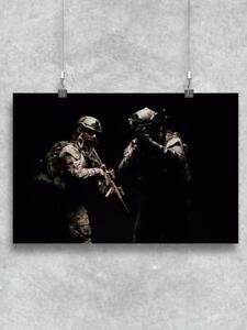 Soldiers.  Poster -Image by Shutterstock
