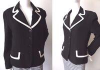 CUE Women's Jacket  Made In Australia Size 10 - 12  US 6 - 8 Long Sleeve