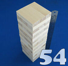 Lote 54 Grande De Madera De Apilamiento Tumbling Torre como Jenga bloques Juego De Mesa Familiar