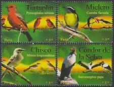 Peru 1681/84 2007 Fauna Vögel birds MNH