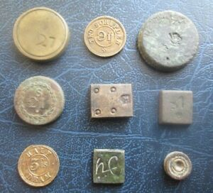 Lot of Vintage Old Coin Weights