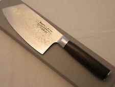 Nakiri - Messer aus Damast- Damaszener Stahl und Pakkaholzgriff - Neu !!!!!!!!