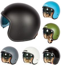 Spada Raze Plain Open Face Motorcycle Scooter Bike Crash Lid Helmet Tinted Visor