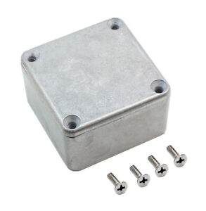 Silver Aluminum Electronics Enclosure Diecast Project Box Case Metal Electrical