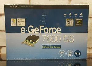 NVIDIA GeForce 7600 GS Video Graphics Card DVI VGA 256MB DDR2 Sealed PCI Express