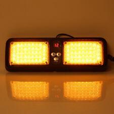 12V Yellow 86 LED Car SUV Truck Sun Visor Strobe Warning Flashing Amber Light