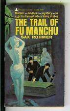 TRAIL OF FU MANCHU by Sax Rohmer, Pyramid #R1003 Asian crime gga pulp vintage pb