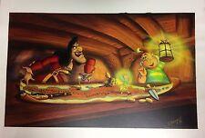 Original Painting Disney Artist Cindi Bothner Tnker Bell Hook Smee Peter Pan