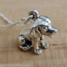Beagle Necklace - 925 Sterling Silver - Beagle Dog Retriever Puppy Charm Dogs