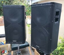 More details for pair of qsc hpr 112i speakers with marshall hd stands