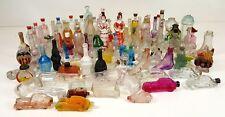 COLLECTION OF 105 PERFUME BOTTLES. PRESSED CRYSTAL. TWENTIETH CENTURY.
