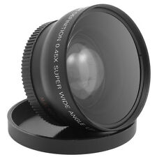 52mm 0.45X Super Wide Angle Macro Lens Fisheye for Nikon D3200 D3100 D5100 US