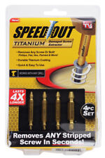 Ontel Speed Out Titanium Damaged Screw Extractor 4-piece Set works wth any Drill
