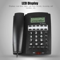 Wall Mount Landline Telephone Caller ID Corded Home Office Phone LCD Display