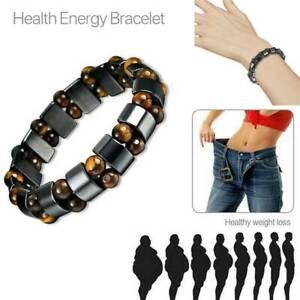 Magnetic Healing Hematite Bead Bangle Bracelet Arthritis Pain Relief Weight Loss