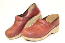 Dansko Professional Womens 7.5 8 38 Leather Closed Back Clog Shoes 206221478 njp