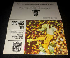 1966 CLEVELAND BROWNS ARBYS ROAST BEEF FOOTBALL POCKET SCHEDULE FREE SHIPPING