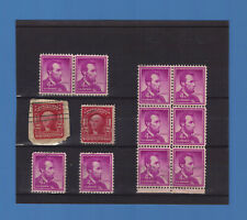 Timbres USA - G WASHINTON dont 1 sur fragement  +  10 LINCOLN