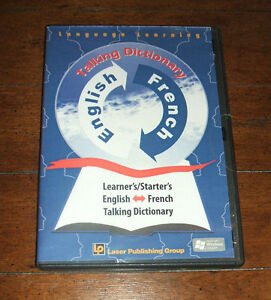 CD-ROM: Language Learning Software - English French Talking Dictionary Beginners