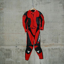 DAINESE - DOMINIA DIV. LADY LEATHER SUIT - SIZE 42 - RED(06)-BLACK - 2513293