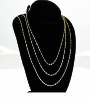 9ct Yellow Gold Trace Chain 16 18 20 inch & Box  UK Made Quality  Fine Chain