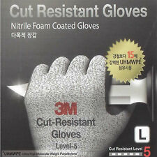 2 Pair 3M Premium Cut Resistant Level-5 Safety Protective Work Coated Gloves