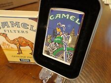 CAMEL CIGARETTES JOE MOON AND MOTORCYCLE WTC NYC ZIPPO LIGHTER MINT IN BOX 1996