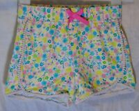 Girls George Pink Green Multi Ditsy Floral Pompom Jersey Shorts Age 5-6 Years