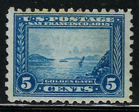 SCOTT 403 1915 5 CENT PANAMA PACIFIC EXPOSITION ISSUE MH OG VF CAT $105!