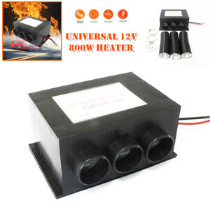 12V 800W Car Warm Dryer 3Holes Vent Seat Dash Heater Heated Air Window Defroster