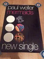 Paul Weller Mermaids Promo Poster Mint The Jam Style Council MEGA RARE