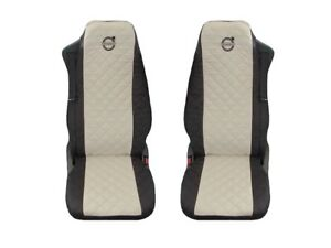 Volvo FH12 , FH16 , FH3 Truck Seat Covers (1+1) BLACK BEIGE