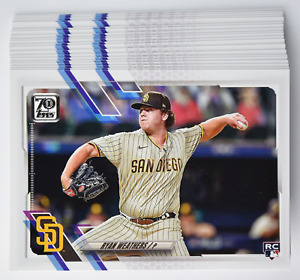 2021 Topps Series 2 Ryan Weathers RC # 335 20 Card Lot QTY