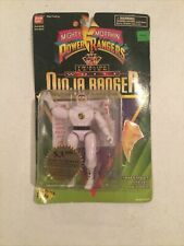 Bandai Mighty Morphin Power Rangers White Ninja Ranger Twirling Action 1995 2471