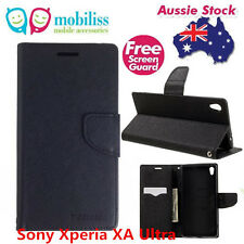 Mooncase Stand BLACK Wallet Case TPU In Case Cover For Sony Xperia XA Ultra + SP