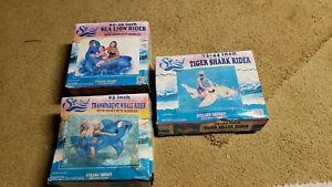 Vintage Strand/Bestway Inflatable Ride On Lot Tiger Shark, RARE...
