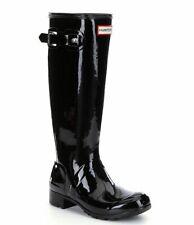 Women's Hunter Original Tour Gloss Tall Black Rain Boots Size 7 M