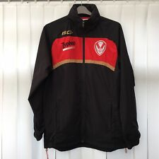 More details for st helens rugby league isc mens hooded zip jacket size medium, black / red