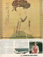 1980 Original Advertising' American Korean Air Lines Company Aerial Painted
